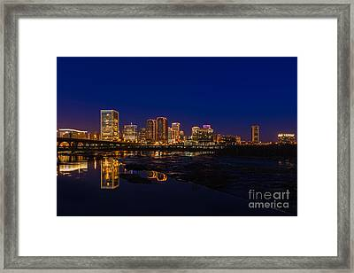 River City Blue Framed Print by Tim Wilson