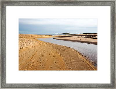 River Entering The North Sea Framed Print by Ashley Cooper