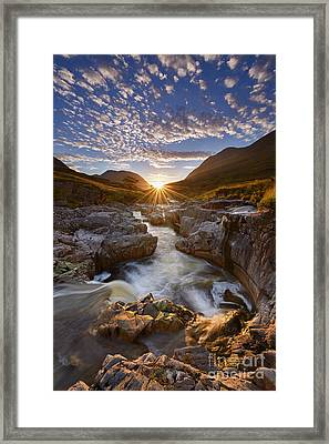 River Etive Framed Print by Rod McLean