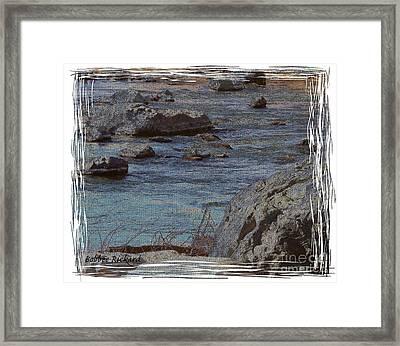 River Flows Framed Print by Bobbee Rickard