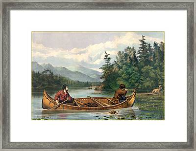 River Hunting Framed Print by Gary Grayson