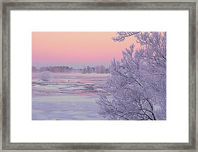 River In Winter Framed Print by Conny Sjostrom