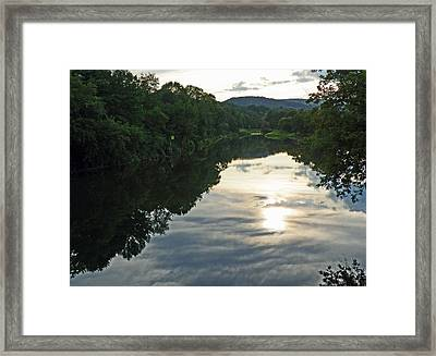 River Of Clouds Framed Print by Jean Hall