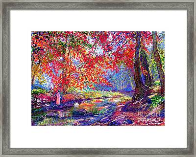 River Of Life, Colors Of Fall Framed Print by Jane Small