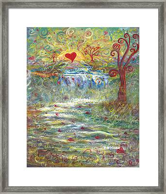 River Of Love Framed Print by Beckie J Neff