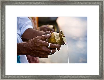 River Offering Framed Print by Nila Newsom
