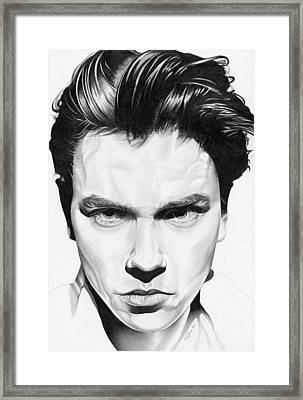River Phoenix Framed Print by Fred Larucci