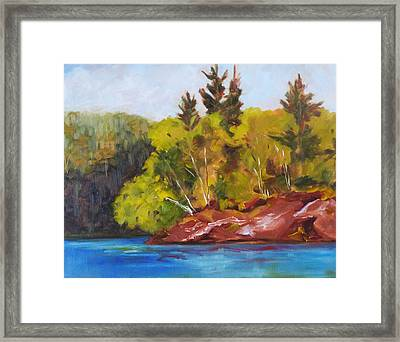River Point Framed Print by Nancy Merkle