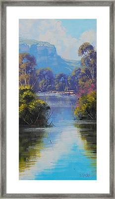 River Reflections Megalong Creek Framed Print by Graham Gercken