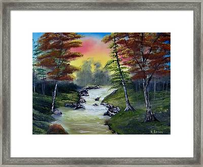River Run Framed Print by Kevin  Brown