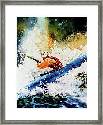 River Rush Framed Print by Hanne Lore Koehler