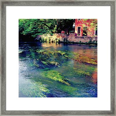 River Sile In Treviso Italy Framed Print by Heiko Koehrer-Wagner