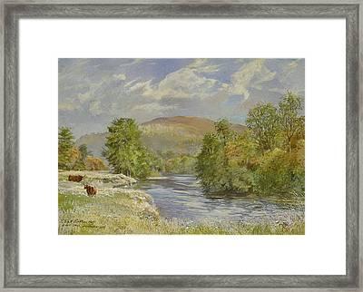 River Spey, Kinrara, 1989 Wc Framed Print by Tim Scott Bolton