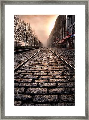 River Street Railway Framed Print by Renee Sullivan