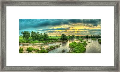 River Sunrise Framed Print by  Caleb McGinn