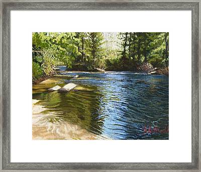 River Sunrise Framed Print by Joseph Kotowski
