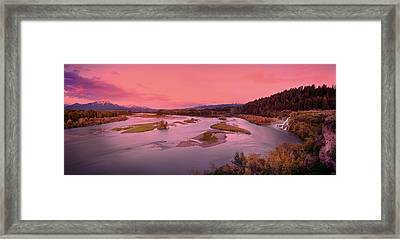 River Sunset Framed Print by Leland D Howard