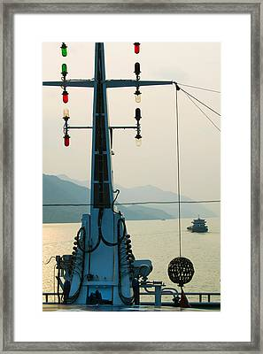 River Traffic On The Yangzi River Framed Print by Panoramic Images