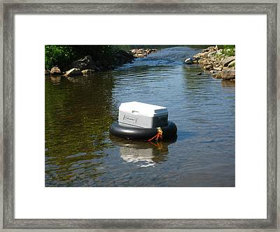 River Tubing - 12122 Framed Print by DC Photographer