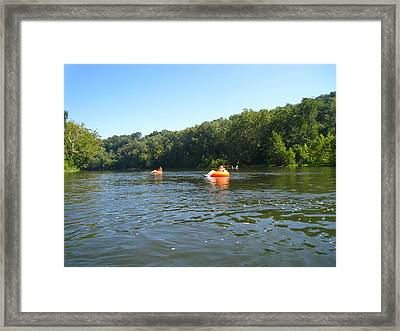 River Tubing - 12123 Framed Print by DC Photographer