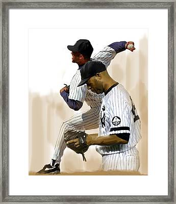 Rivera   Mariano Rivera  Framed Print by Iconic Images Art Gallery David Pucciarelli