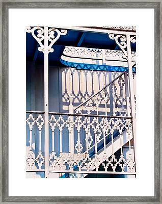 Riverboat Railings Framed Print by Christi Kraft
