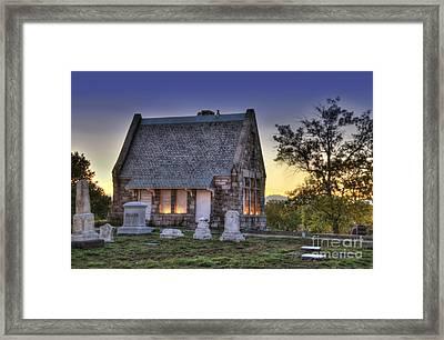 Riverside Cemetery Framed Print by Juli Scalzi