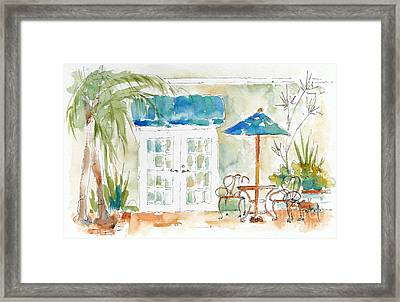 Riverside Courtyard Framed Print by Pat Katz