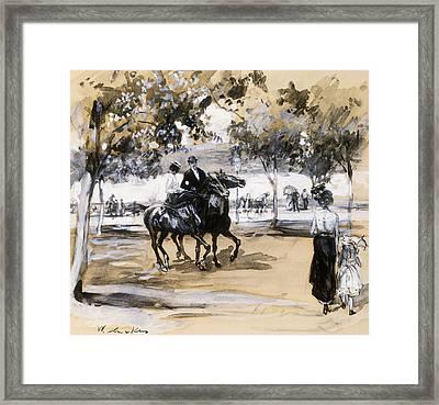 Riverside Drive Framed Print by William James Glackens