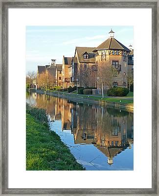 Riverside Home Reflections Vertical Framed Print by Gill Billington