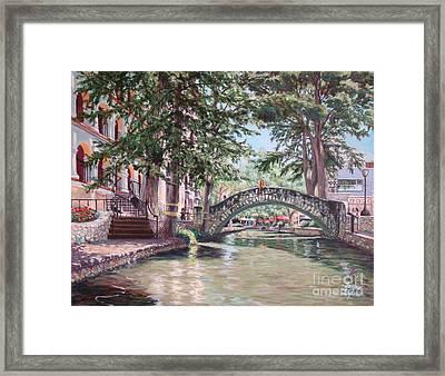 Riverwalk Stroll Framed Print by Terrie Leyton