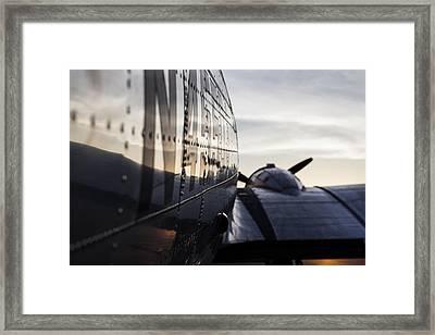 Riveting Sunrise Framed Print by Amber Kresge