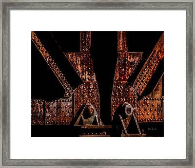 Rivets Number Three Framed Print by Bob Orsillo