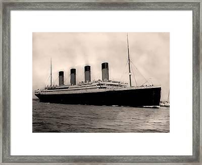 Rms Titanic Framed Print by Bill Cannon