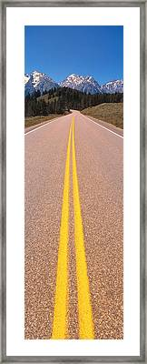 Road Grand Teton National Park Wy Framed Print by Panoramic Images
