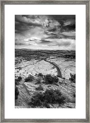 Road In The Desert Framed Print by Andrew Soundarajan