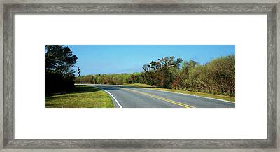 Road Leading Towards A Lighthouse, Cape Framed Print by Panoramic Images