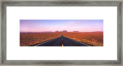 Road Monument Valley, Utah, Usa Framed Print by Panoramic Images