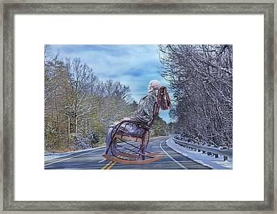 Road Rocker Framed Print by Betsy Knapp