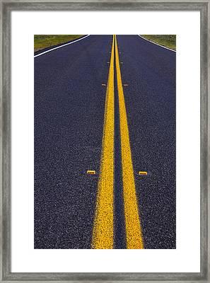 Road Stripe  Framed Print by Garry Gay