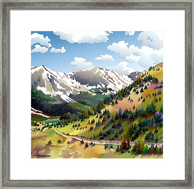 Road To Alma Framed Print by Anne Gifford