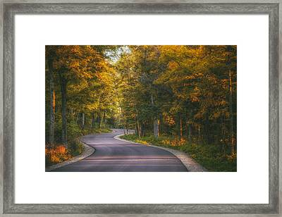 Road To Cave Point Framed Print by Scott Norris