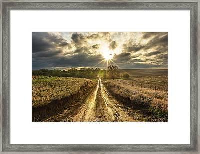 Road To Nowhere Framed Print by Aaron J Groen