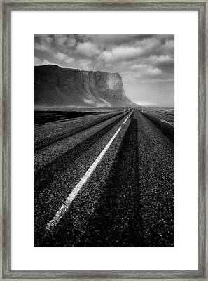 Road To Nowhere Framed Print by Dave Bowman