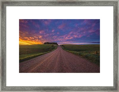 Road To Nowhere El Framed Print by Aaron J Groen