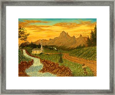 Road To Redemption Framed Print by David Bentley