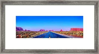 Long Road To Ruin Framed Print by Az Jackson