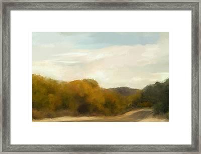 Road To Somewhere Framed Print by Karen Sperling