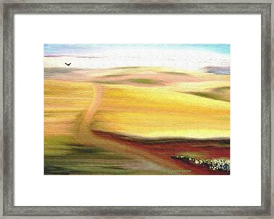 Road To Somewhere Framed Print by Lenore Senior