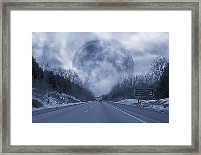 Road To The Horizon Framed Print by Betsy C Knapp